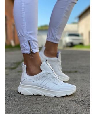 Sportowe buty RUSIN TOKYO WHITE skóra naturalna POLSKA PRODUKCJA