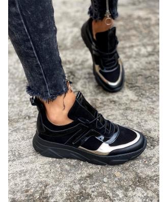 Sportowe buty RUSIN TOKYO BLACK GOLD skóra naturalna POLSKA PRODUKCJA