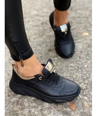 Sportowe buty RUSIN FREE BLACK GOLD skóra naturalna POLSKA PRODUKCJA