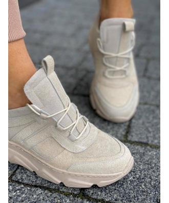 Sportowe buty RUSIN TOKYO BEIGE SUEDE skóra naturalna POLSKA PRODUKCJA