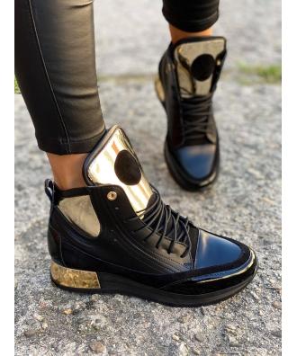 Jesienno - zimowe buty Rusin LAVAREDO BLACK&GOLD V2 skóra naturalna