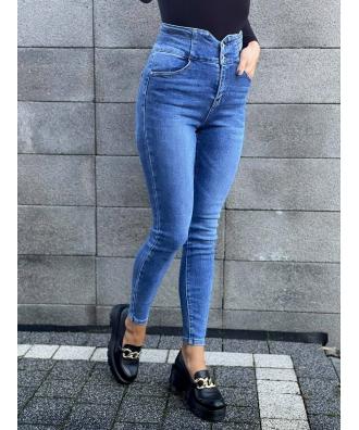 wygodne jeansowe spodnie z wyższym stanem S6062G-3
