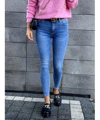 jeansy push up  ze streczem S6355-5